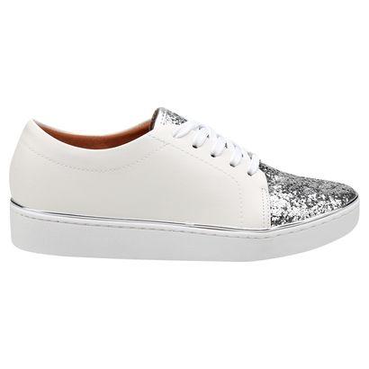 8aa3d8913 Compre Tênis Vizzano Glitter Branco e prata na Zattini a nova loja de moda  online da Netshoes. Encontre Sapatos