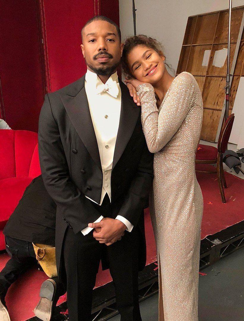Zendaya and Michael B Jordan