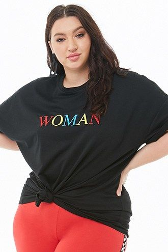 3716602e3 Plus Size Woman Embroidered Graphic Tee | Tops in 2019 | Plus size ...