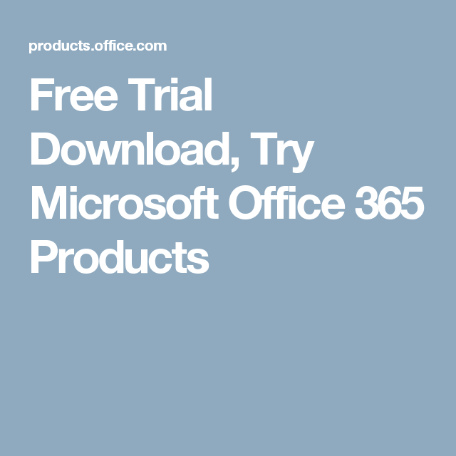 microsoft office free trial download