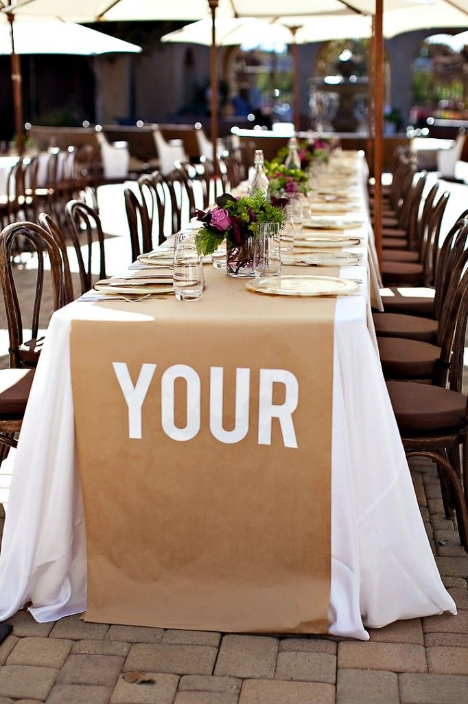 Brown Paper Table Runners   Cost Effective!
