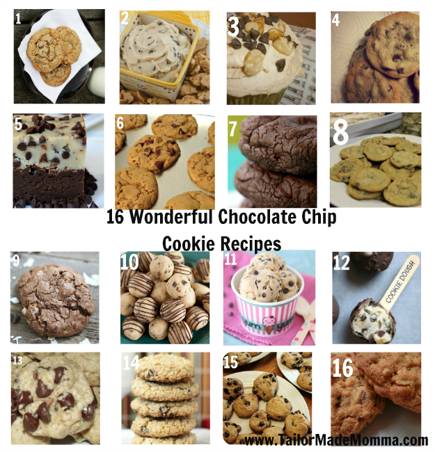 16 wonderful Chocolate Chip Cookie Recipes