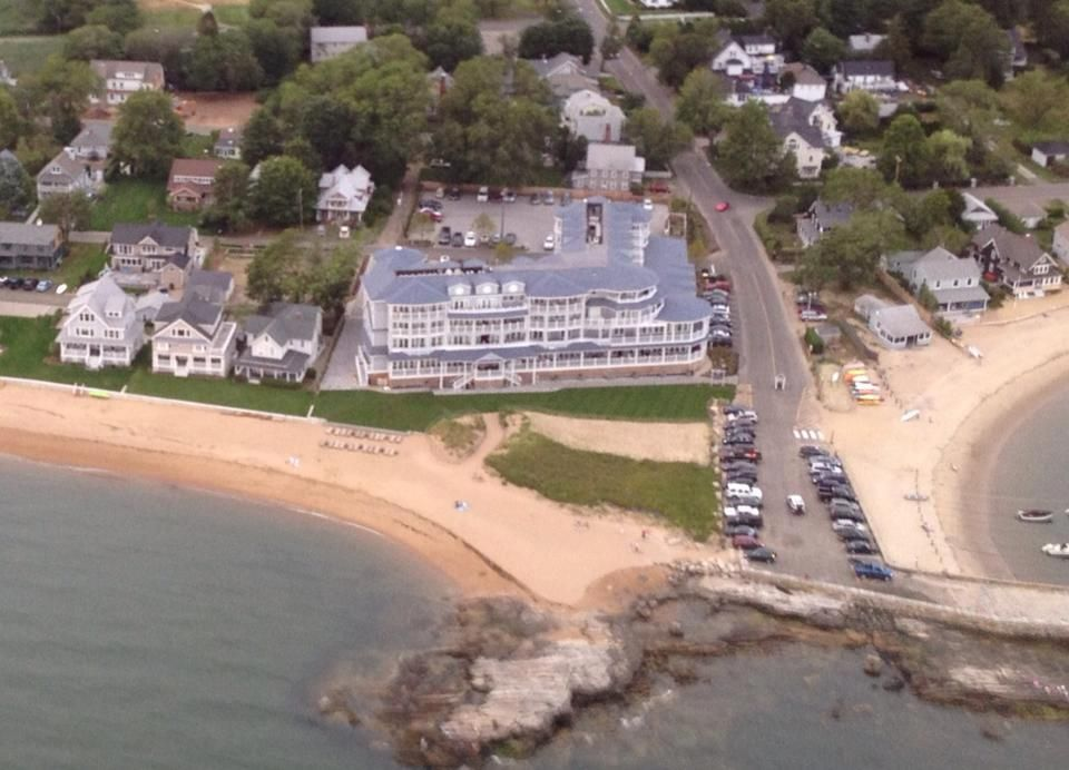 Aerial photo of the madison beach hotel madison ct