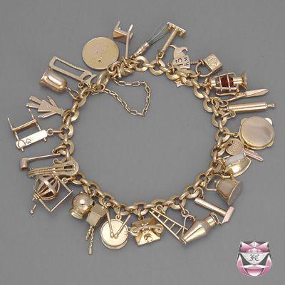 "Vintage Rose Gold Charm Bracelet | ⚓""Fine jewelry should ..."