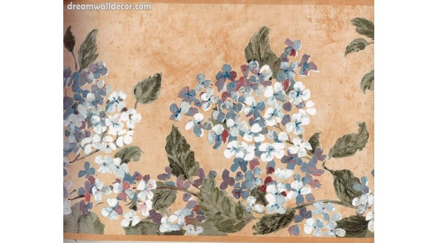 10 In X 15 Ft Prepasted Wallpaper Borders Blue White Tiny Flowers Wall Paper Border Vintage Flowers Wallpaper Floral Wallpaper Border Wallpaper Border