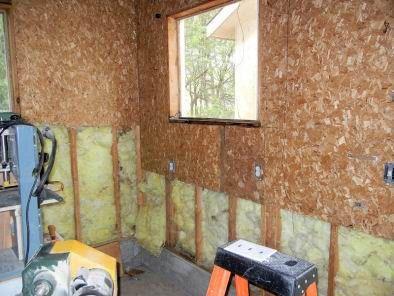 finishing the new workshop  garage insulation insulating