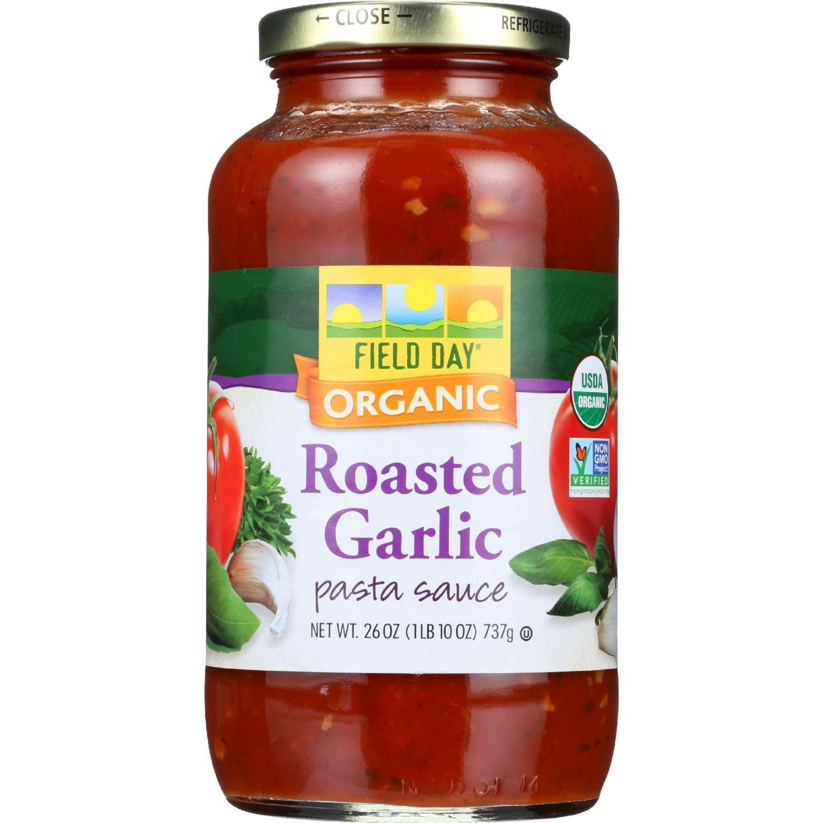 Field Day Pasta Sauce - Organic - Roasted Garlic - 26 Oz - Case Of 12