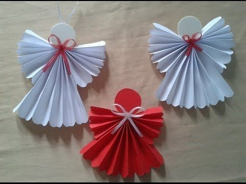Paper Angel - How to make a paper angel - Christmas tree decorations - DIY