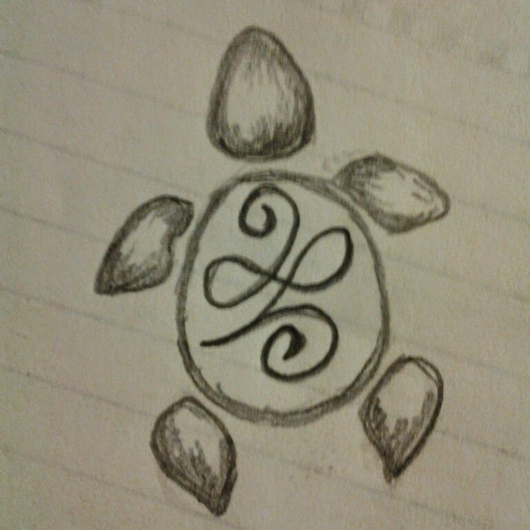 Tiny Sea Turtle For Behind Ear Celtic Symbol For New Beginning