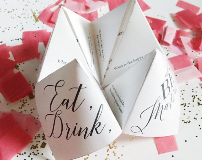 Folded Color Printed Cootie Catcher Wedding Programs Catcher - cootie catcher template