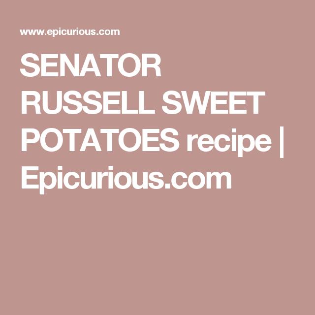 SENATOR RUSSELL SWEET POTATOES recipe | Epicurious.com