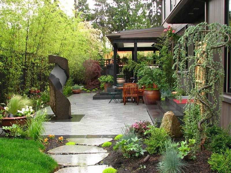 Great Japanese Patio, Bamboo Screen Asian Landscaping Stock U0026 Hill Landscapes,  Inc Lake Stevens,