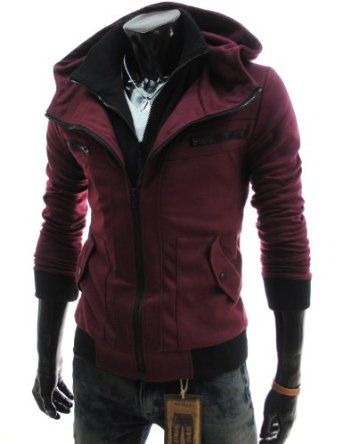 TheLees Mens Casual Slim Fit Hood Cotton Jacket this is literally perfect!