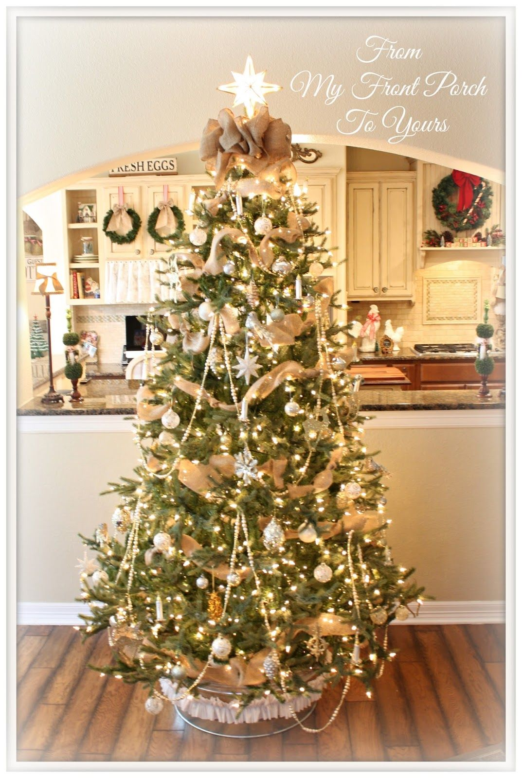 gold and white christmas - Gold Christmas Tree