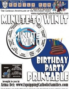 Minute To Win It With Free Printable March 25 Minute To Win It