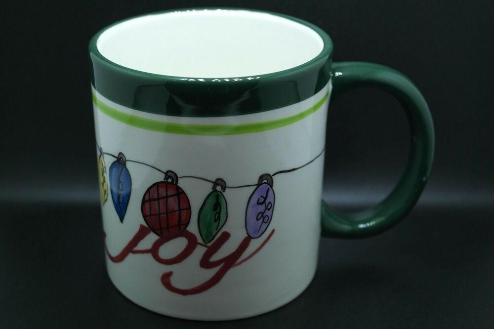 The Coffee Bean Tea Leaf Christmas Joy Holiday Coffee Mug In 2020 Holiday Coffee Mugs Tea Leaves