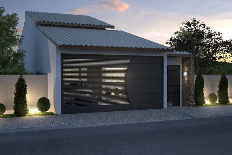 Planta de casa para terreno de 7x20 metros sagrario for Casa moderna 7x20