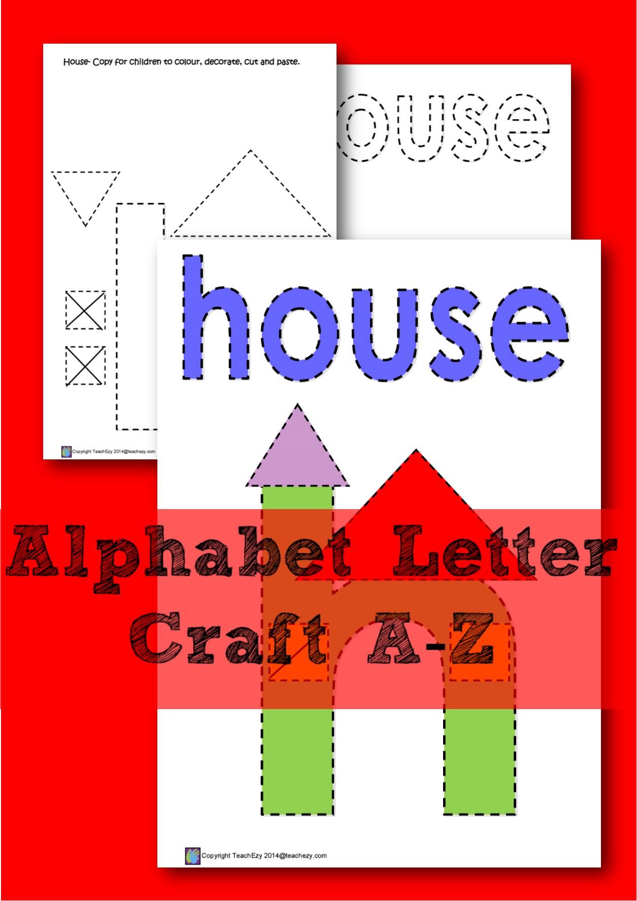 Learning The Letter H A Color Cut And Paste Activity