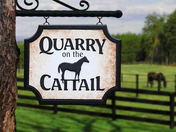 custom horse farm sign custom farm signs custom outdoor name signs rh pinterest com