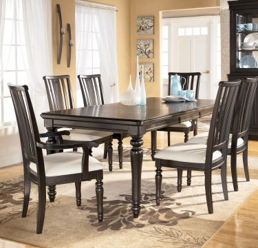 $944 7Pc Louden Rectangular Leg Table Dining Room Set Ashley Alluring 9 Pcs Dining Room Set Design Decoration