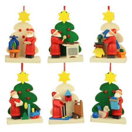 graupner holzminiaturen christmas tree decoration tree santa claus erzgebirge amazonde kitchen - Amazon Christmas Tree Decorations