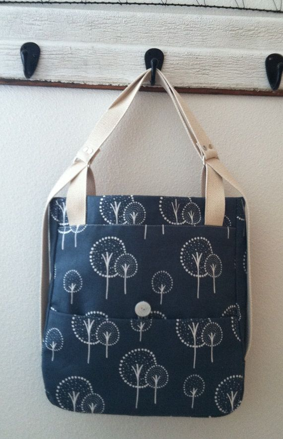 A Day in the Park Backpack Tote with Trees by LittleRedBirdBags, $65.00
