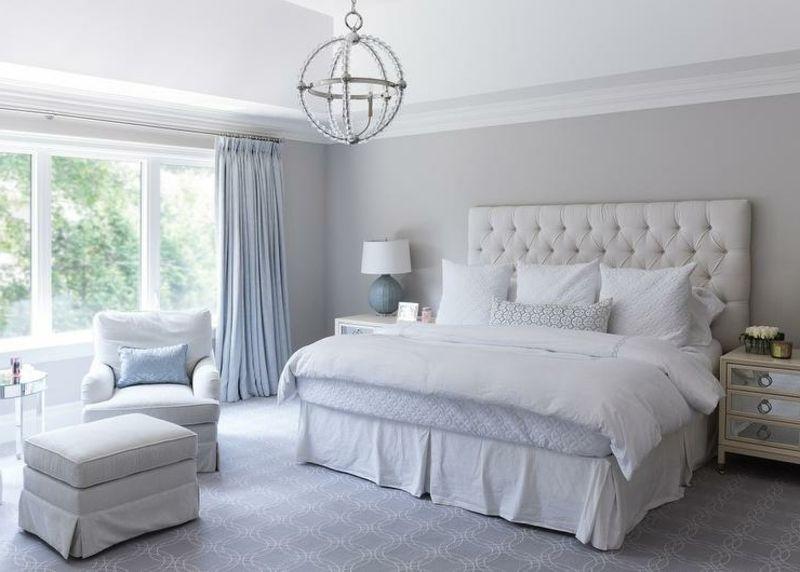 Graue Schlafzimmer Wandfarbe in 100 Beispielen (mit
