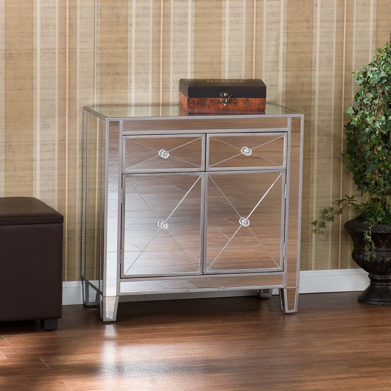 Amazoncom SEI Mirage Mirrored Cabinet Home u0026