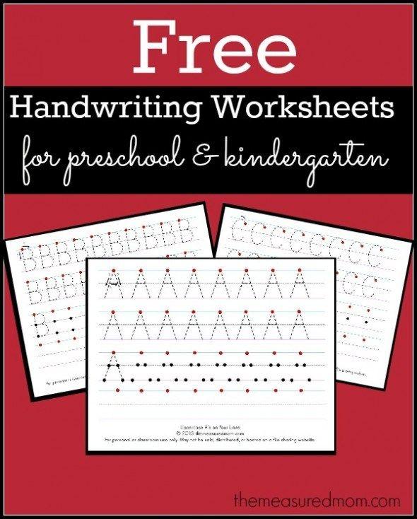 FREE Printable Handwriting Worksheets for Preschool and Kindergarten ...