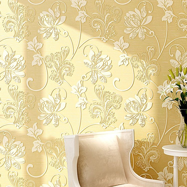 3d Embossed Floral Peel And Stick Wallpaper Self Adhesive Wall Paper For Living Room In Wallpapers Fr Wall Stickers Living Room Fabric Wallpaper Background Diy
