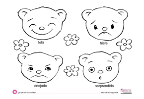 Emotions Coloring Book Printable Concept