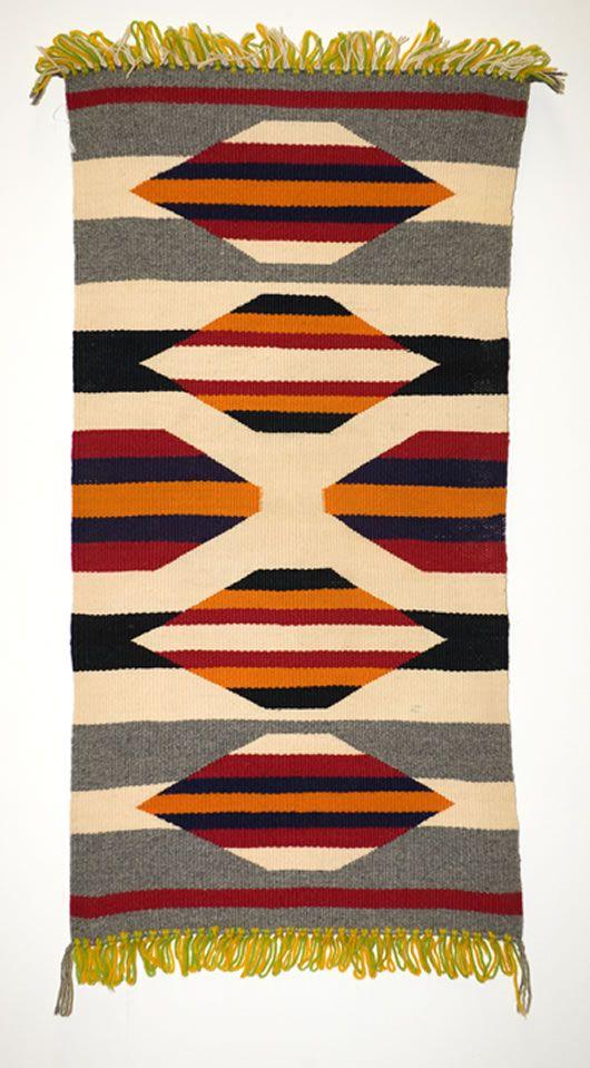 Charming Germantown Table Runner Navajo Weaving
