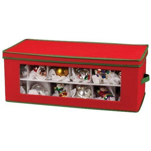 Are you looking for a Christmas ornament storage box with 40 compartments?  Look… - Christmas Ornament Storage Boxes Christmas Storage Solutions