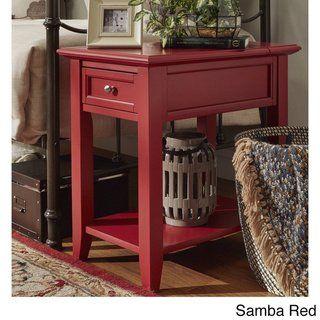 Fabulous Copper Grove Poppy 1 Drawer Side Table With Charging Station Short Links Chair Design For Home Short Linksinfo