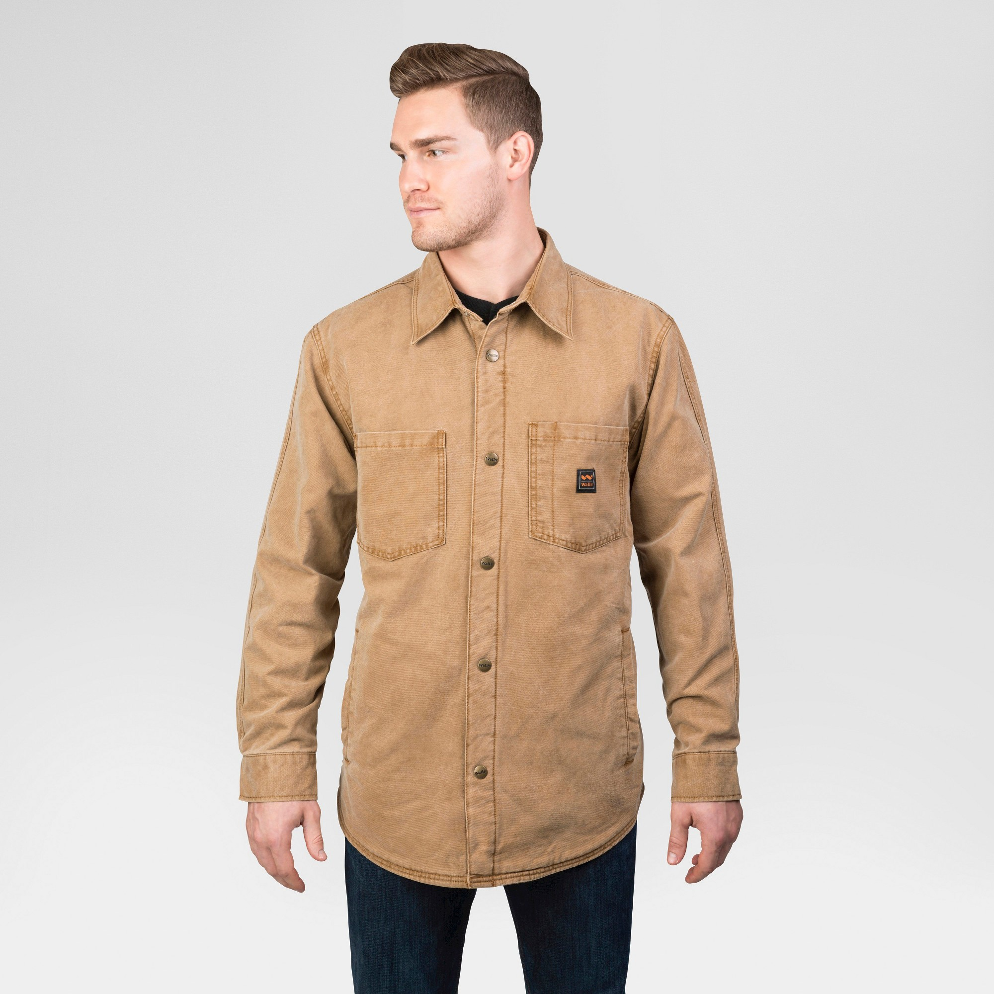 Walls Vintage Duck Shirt Jacket Big Tall Washed Pecan Xxl Men S