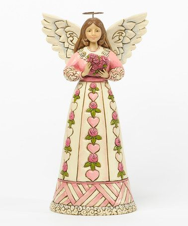 Look what I found on #zulily! Flower & Heart Breast Cancer Awareness Angel #zulilyfinds  $14.99. Fantastic price!!