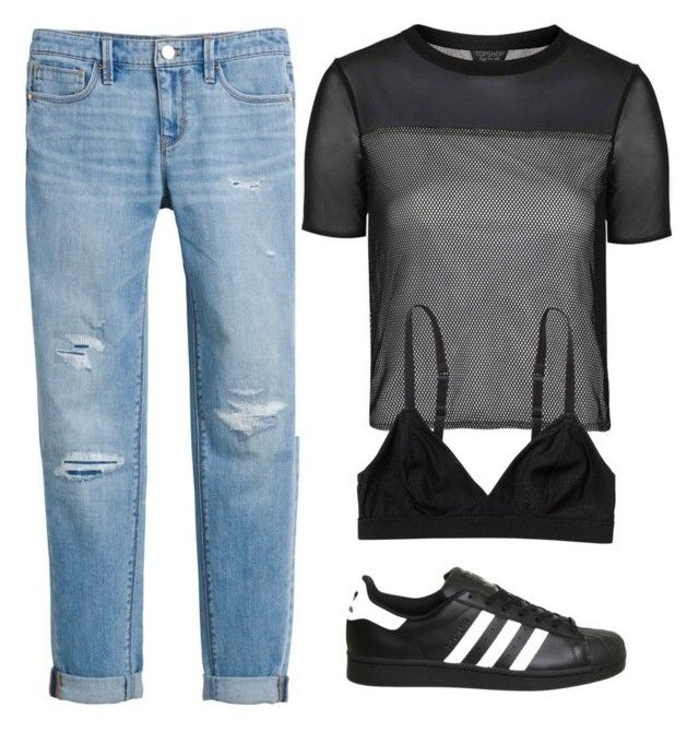 """""""Sun 10:04 PM"""" by gcvarnell ❤ liked on Polyvore featuring White House Black Market, adidas, Topshop and Monki"""