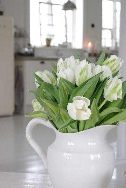 Flowers in vintage/antique jug