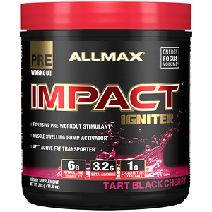 Allmax Nutrition Impact محفز ما قبل التمرين تارت التوت الأسود 11 6 أونصة 328 جم Discontinued Item 血漿 シトルリン リンゴ酸