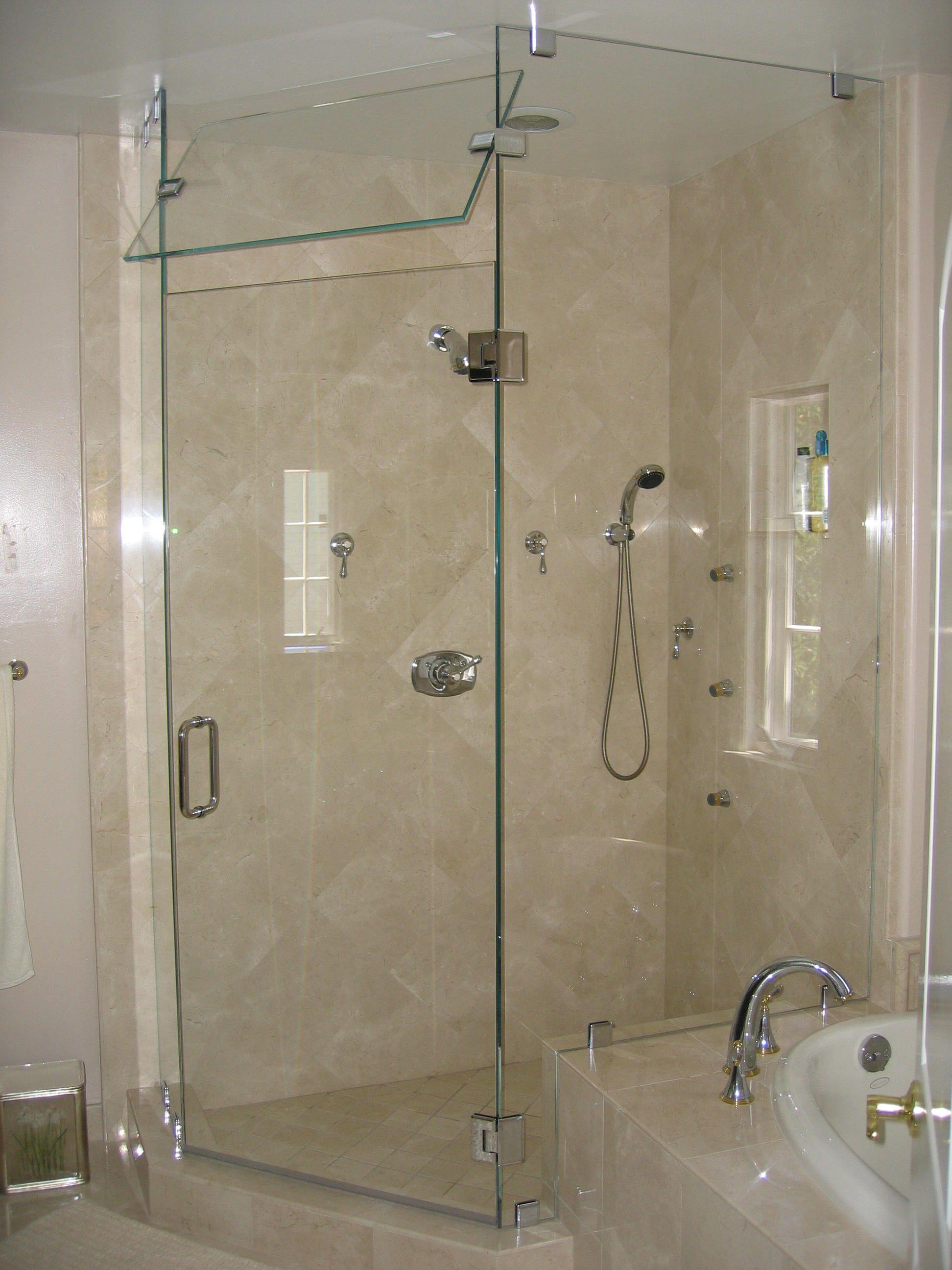 Bathroom, Fabulous Frameless Tub Shower Doors Of Home Depot With ...