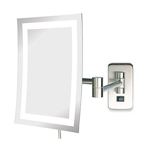 Jerdon 5x Led Rectangular Direct Wire Wall Mount Mirror With