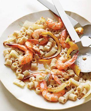 Shrimp and Roasted Fennel Ditalini from  ditalinirecipe