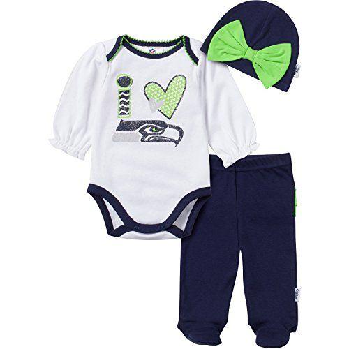 awesome NFL Seattle Seahawks Baby Girl Bodysuit 07bb0b5dd