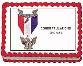 Eagle Scout Logo Emblem Edible Birthday Party Cake or cupcake Toppers - Choose From 10 Frosting Sheet Sizes Custom Personalized