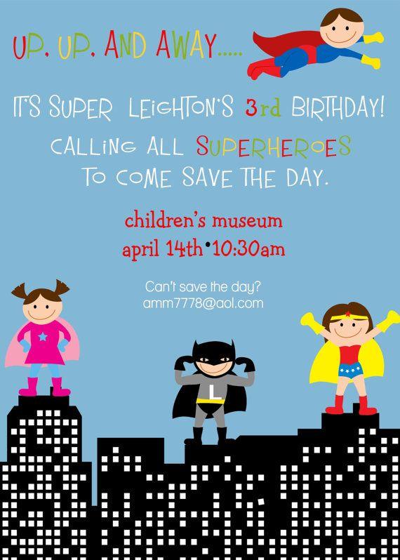 Pin On Superhero Birthday Invitations
