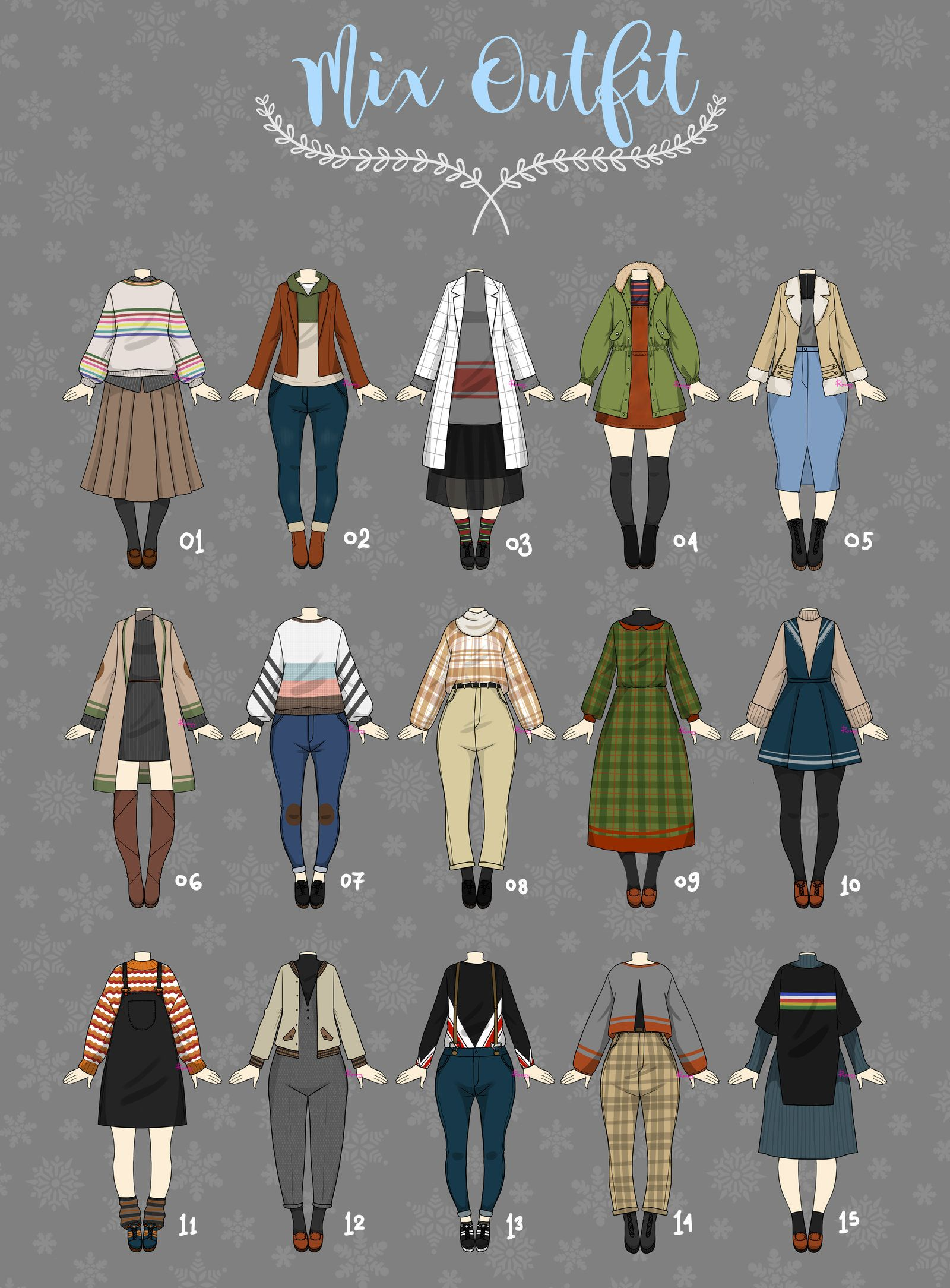 cute anime winter outfits