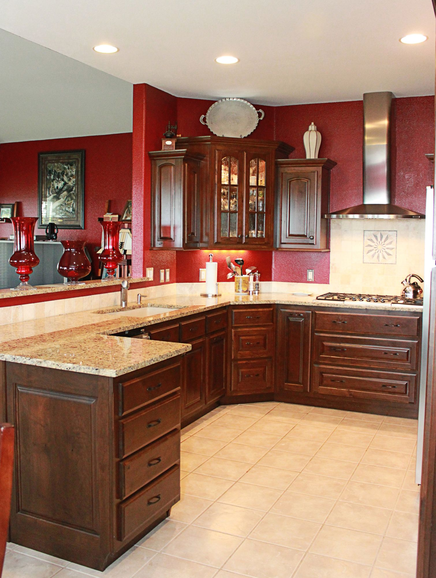 Pin By Cabinets Plus On Rustic Cherry Cabinets Cherry Cabinets Kitchen Cherry Kitchen Rustic Cherry Cabinets