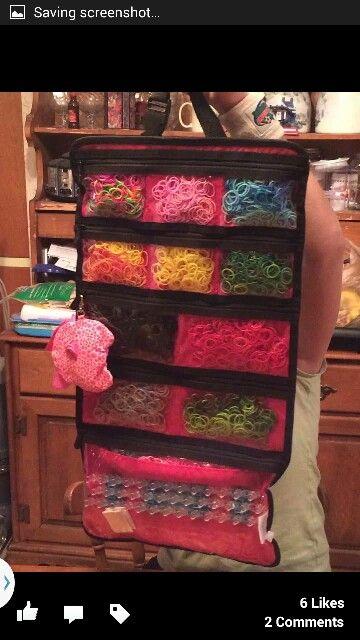 Rainbow Loom Storage                     www.mythirtyone.com/48235                                                        this is the best if u r loomming at home