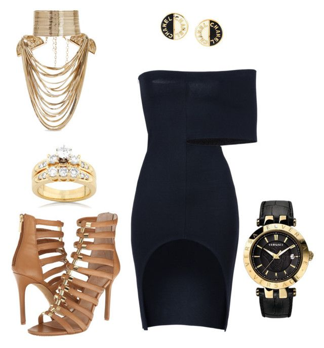 Amira by natashajovic on Polyvore featuring polyvore, fashion, style, STELLA McCARTNEY, Vince Camuto, Versace, Rosantica, Kobelli, Chanel and clothing