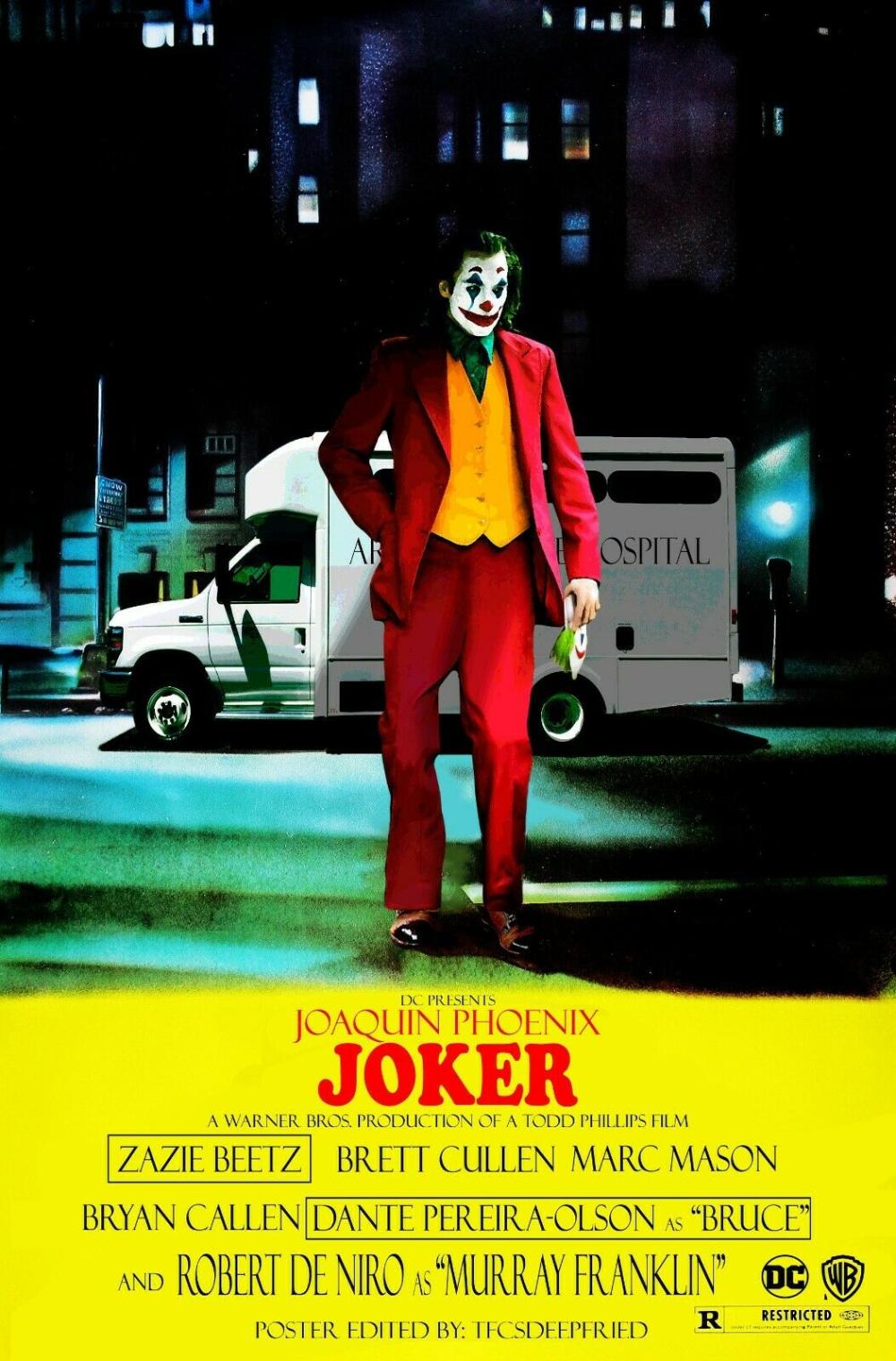 Movie Poster 2019 Dc Comic S And Warner Bros Joker